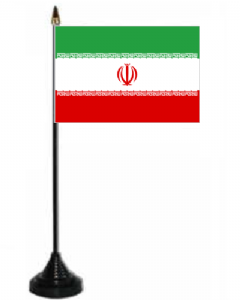 Iran Desk / Table Flag with plastic stand and base.
